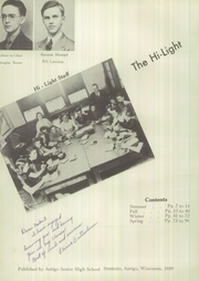 Page 10, 1939 Edition, Antigo High School - Hi Light Yearbook (Antigo, WI) online yearbook collection