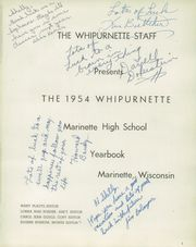Page 5, 1954 Edition, Marinette High School - Whipurnette Yearbook (Marinette, WI) online yearbook collection