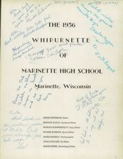 Page 5, 1956 Edition, Marinette High School - Whipurnette Yearbook (Marinette, WI) online yearbook collection