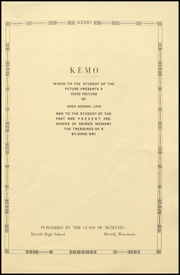Page 5, 1923 Edition, Merrill High School - Kemo Yearbook (Merrill, WI) online yearbook collection