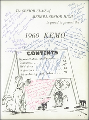Page 5, 1960 Edition, Merrill High School - Kemo Yearbook (Merrill, WI) online yearbook collection