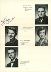 Page 14, 1958 Edition, Wilmot Union High School - Panther Yearbook (Wilmot, WI) online yearbook collection
