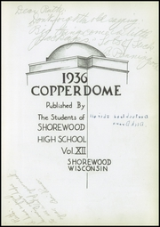 Page 7, 1936 Edition, Shorewood High School - Copperdome Yearbook (Shorewood, WI) online yearbook collection