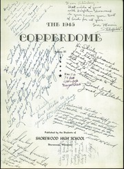 Page 7, 1945 Edition, Shorewood High School - Copperdome Yearbook (Shorewood, WI) online yearbook collection