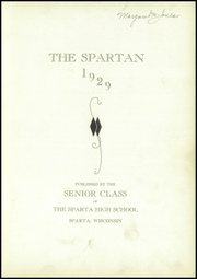 Page 5, 1929 Edition, Sparta High School - Spartan Yearbook (Sparta, WI) online yearbook collection