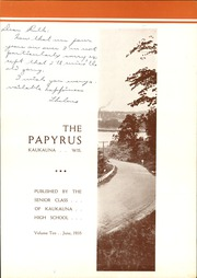 Page 7, 1935 Edition, Kaukauna High School - Papyrus Yearbook (Kaukauna, WI) online yearbook collection