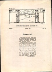 Page 16, 1914 Edition, West Division High School - Comet Yearbook (Milwaukee, WI) online yearbook collection