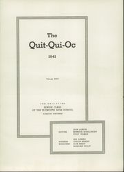 Page 7, 1941 Edition, Plymouth High School - Quit Qui Oc Yearbook (Plymouth, WI) online yearbook collection
