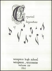 Page 5, 1952 Edition, Waupaca High School - Crystal Yearbook (Waupaca, WI) online yearbook collection