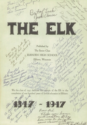 Page 5, 1947 Edition, Elkhorn High School - Elk Yearbook (Elkhorn, WI) online yearbook collection