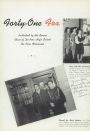 Page 7, 1941 Edition, De Pere High School - Fox Yearbook (De Pere, WI) online yearbook collection