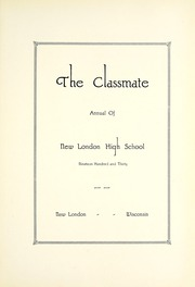 Page 9, 1930 Edition, New London High School - Classmate Yearbook (New London, WI) online yearbook collection