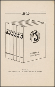 Page 5, 1925 Edition, Jefferson High School - Jeffersonian Yearbook (Jefferson, WI) online yearbook collection