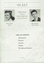 Page 6, 1944 Edition, Jefferson High School - Jeffersonian Yearbook (Jefferson, WI) online yearbook collection