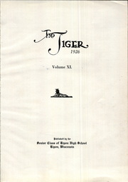 Page 7, 1926 Edition, Ripon High School - Tiger Yearbook (Ripon, WI) online yearbook collection