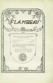 Page 5, 1926 Edition, Marquette University High School - Flambeau Yearbook (Milwaukee, WI) online yearbook collection