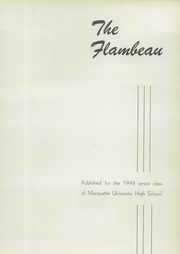 Page 7, 1948 Edition, Marquette University High School - Flambeau Yearbook (Milwaukee, WI) online yearbook collection