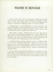 Page 9, 1954 Edition, Marquette University High School - Flambeau Yearbook (Milwaukee, WI) online yearbook collection