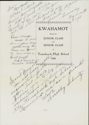 Page 7, 1929 Edition, Tomahawk High School - Kwahamot Yearbook (Tomahawk, WI) online yearbook collection