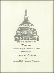 Page 5, 1953 Edition, Portage High School - Wauona Yearbook (Portage, WI) online yearbook collection