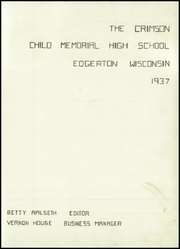 Page 5, 1937 Edition, Edgerton High School - Crimson Yearbook (Edgerton, WI) online yearbook collection