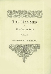 Page 3, 1930 Edition, Mauston High School - Hammer Yearbook (Mauston, WI) online yearbook collection