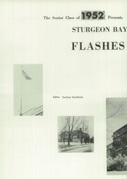 Page 10, 1952 Edition, Sturgeon Bay High School - Flashes Yearbook (Sturgeon Bay, WI) online yearbook collection