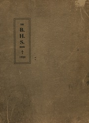 1920 Edition, Barron High School - Bear On High Yearbook (Barron, WI)
