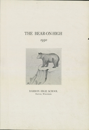 Page 5, 1930 Edition, Barron High School - Bear On High Yearbook (Barron, WI) online yearbook collection