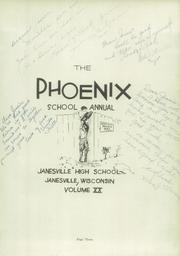 Page 7, 1931 Edition, Janesville High School - Phoenix Yearbook (Janesville, WI) online yearbook collection