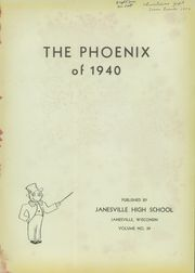 Page 5, 1940 Edition, Janesville High School - Phoenix Yearbook (Janesville, WI) online yearbook collection