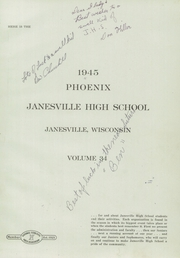 Page 5, 1945 Edition, Janesville High School - Phoenix Yearbook (Janesville, WI) online yearbook collection