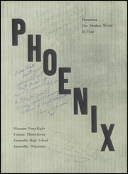 Page 5, 1948 Edition, Janesville High School - Phoenix Yearbook (Janesville, WI) online yearbook collection