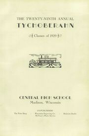 Page 7, 1929 Edition, Madison Central High School - Tychoberahn Yearbook (Madison, WI) online yearbook collection