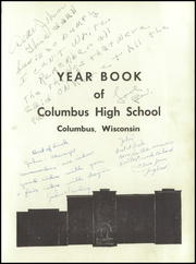 Page 7, 1954 Edition, Columbus High School - Cardinal Yearbook (Columbus, WI) online yearbook collection