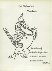 Page 5, 1959 Edition, Columbus High School - Cardinal Yearbook (Columbus, WI) online yearbook collection