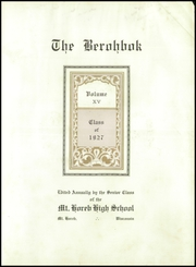 Page 9, 1927 Edition, Mount Horeb High School - Berohbok Yearbook (Mount Horeb, WI) online yearbook collection