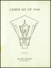 Page 5, 1948 Edition, Lake Mills High School - Lambda Mu Yearbook (Lake Mills, WI) online yearbook collection