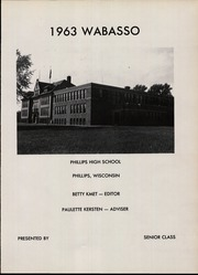 Page 5, 1963 Edition, Phillips High School - Wabasso Yearbook (Phillips, WI) online yearbook collection
