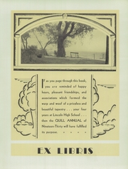 Page 7, 1930 Edition, Lincoln High School - Quill Yearbook (Milwaukee, WI) online yearbook collection