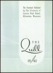 Page 11, 1942 Edition, Lincoln High School - Quill Yearbook (Milwaukee, WI) online yearbook collection