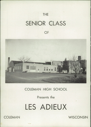 Page 6, 1956 Edition, Coleman High School - Les Adieu Yearbook (Coleman, WI) online yearbook collection