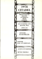 Page 5, 1978 Edition, Racine Lutheran High School - Citadel Yearbook (Racine, WI) online yearbook collection