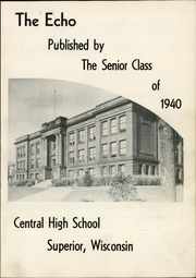 Page 5, 1940 Edition, Central High School - Echo Yearbook (Superior, WI) online yearbook collection