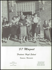 Page 5, 1957 Edition, Frederic Union Free High School - Magnet Yearbook (Frederic, WI) online yearbook collection