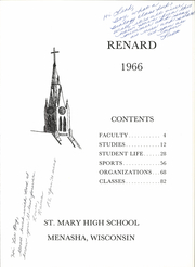 Page 5, 1966 Edition, St Mary Central High School - Renard Yearbook (Menasha, WI) online yearbook collection