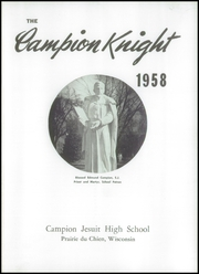 Page 5, 1958 Edition, Campion Jesuit High School - Knight Yearbook (Prairie du Chien, WI) online yearbook collection