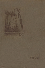 1926 Edition, Gibraltar High School - Viking Yearbook (Fish Creek, WI)