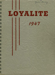Loyal High School - Loyalite Yearbook (Loyal, WI) online yearbook collection, 1947 Edition, Page 1