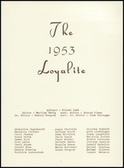 Page 7, 1953 Edition, Loyal High School - Loyalite Yearbook (Loyal, WI) online yearbook collection